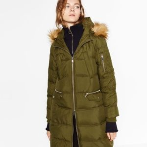 Women S Green Zara Quilted Jacket On Poshmark